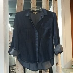 Anthropologie Cloths and Stone chambray top